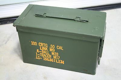 1 US Military Issued 50 CAL M2A1 Ammo Can Box .50 Caliber Surplus 5.56 MM 40 MM