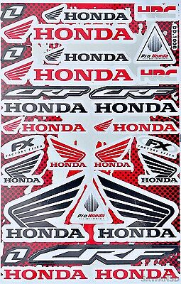 New Racing Decal Sticker 1 Sheet Honda CRF Car Motocross Motorcycle Bike C22