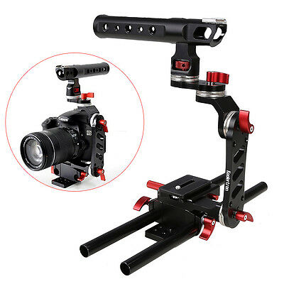 Kooolertron Kamera Cage Rig Top Handle Tripod Mount Plate For Sony A7 A7S GH4
