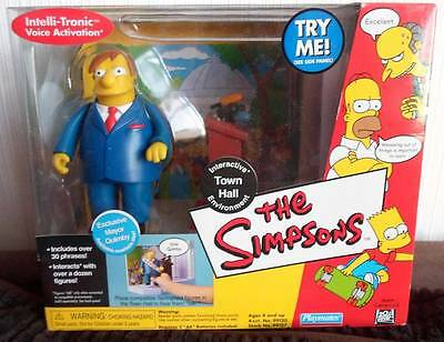 Simpsons Exclusive MAYOR QUIMBY TOWN HALL  interactive box set Figure Playmates