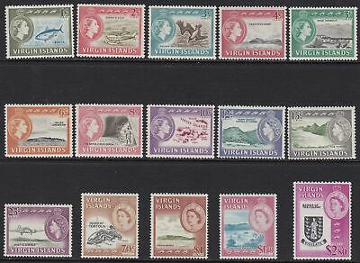 1964-68 BRITISH VIRGIN ISLANDS - SG n° 178/192  15 valori  MLH/MNH */**