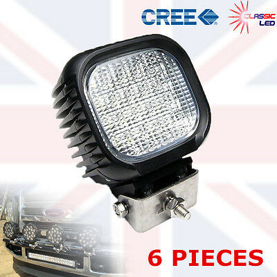6x 48W 16 LED Work Light Lamp Flood Beam Jeep Tractor Truck Sailing 12v 24v CRE