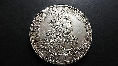 1642 Augsburg City View High Quality Silver Taler German States Ferdinand III