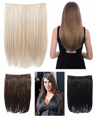 """Koko Dolce 18"""" Long Straight One Piece Weft Synthetic Hair Extensions Clip In"""