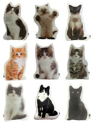 Cute Shaped Cat Cushions Handmade By Creature Comforts Direct, UK - Pillow Gift