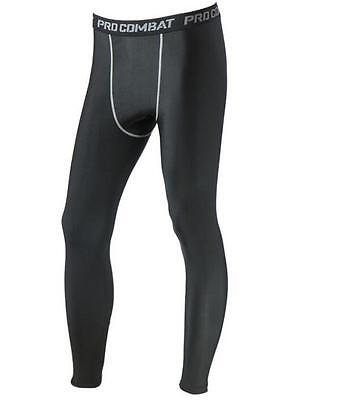 Men Sports Apparel Skin Tights Compression Base Under Layer Long Pants - Large