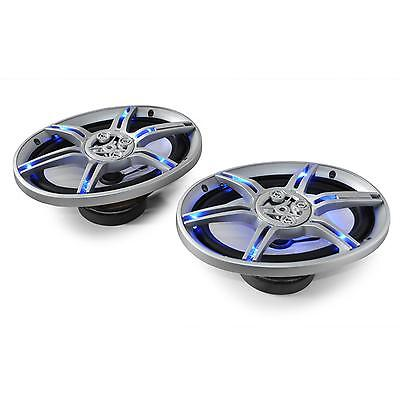 """1000W Blue LED 6"""" x 9"""" Inch Car Audio Speaker Pair By Auna Car Stereo Speakers"""