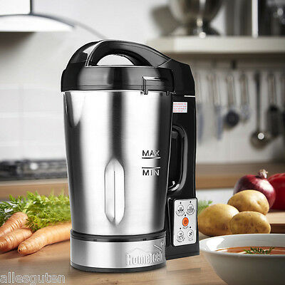 1.6L Stainless Steel Electric Soup Maker Machine Blender Smoothie Ice Crusher UK