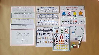 Starting School Pack, shapes,numbers,name,alphabet, EYFS, Reception Class,