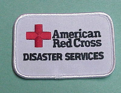 American Red Cross  Disaster Services ( White )  Red Cross Patch  Free Shipping!