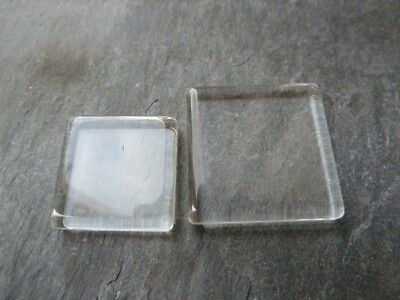 Crystal Clear Square Glass Tiles 20x20mm (pk10)