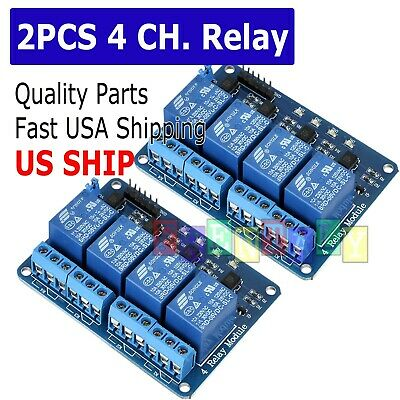 2X 4 Channel DC 5V Relay Switch Module for Arduino Raspberry Pi ARM AVR DSP