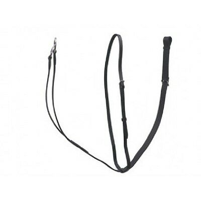 Gallop Leather Running Martingale - Black Or Brown Pony, Cob & Full Sizes