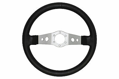 Silver Black 345mm WRC deep dish steering wheel fit Momo OMP Sparco boss kit