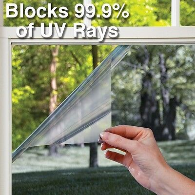 Heat Control 99% UV Blocking Vinyl Window Wrap Adhesive Film Roll Tint Decal DIY