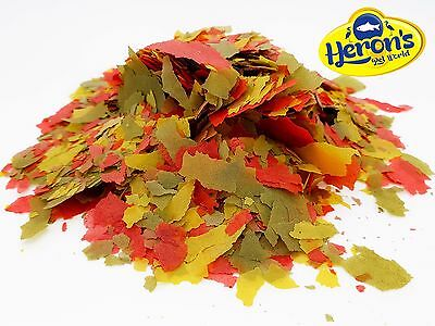 HERONS Multi Vitamin Flakes TROPICAL FLAKES FISH FOOD Cichlid Goldfish Tetra