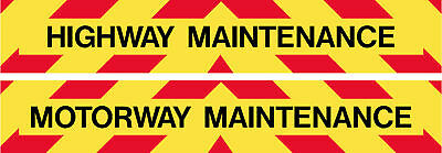 MAGNETIC MOTORWAY OR HIGHWAY MAINTENANCE REFLECTIVE 600 x 100mm