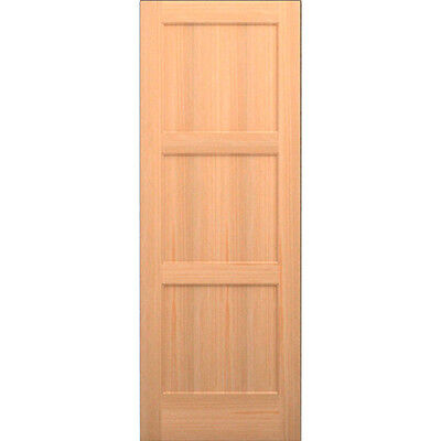 Clear Pine 3 Panel Flat Mission Shaker Solid Core Interior Wood Doors Model# 3CM