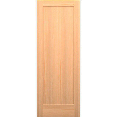 Clear Pine 1 Panel Flat Mission Shaker Solid Core Interior Wood Doors Model# 1TM
