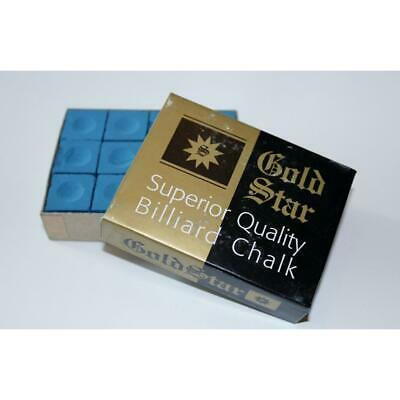 Goldstar Billard Kreide blau, Box mit 12 Stück - Billiard Chalk