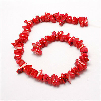 1Strand Mixed Shapes Freshwater Shell Red Chip Beads 8~18x7~10x3~9mm Craft DIY