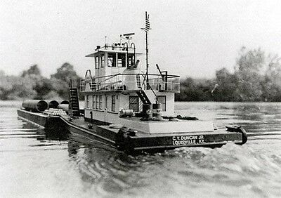 GENERIC DIESEL RIVER Towboat, Schlepper. Modellbauplan