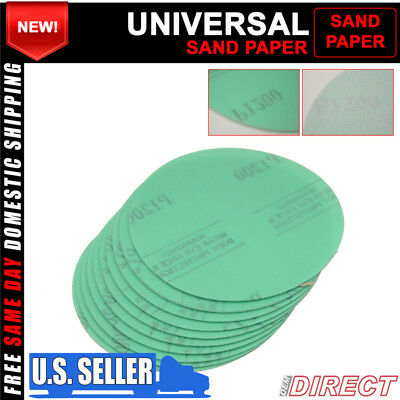 X10 Wet Dry Green Auto Sand Paper Bodykit Repair Sanding Disc 1200 Grit 5 Inch