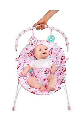 Bright Starts Bouquet Vibrating Pink Bouncer Baby Nursery Chair
