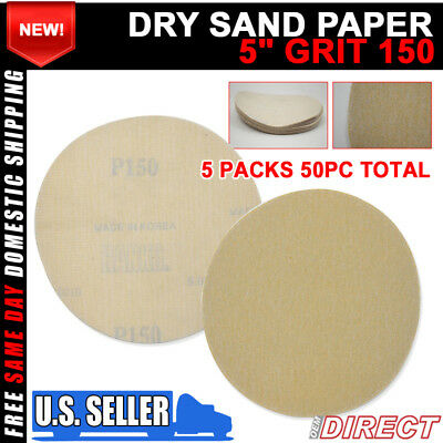 x50 Dry Body Repair Sanding Sheets Auto Sanding Disc Sheet 150 Grit 5 Inch Psa