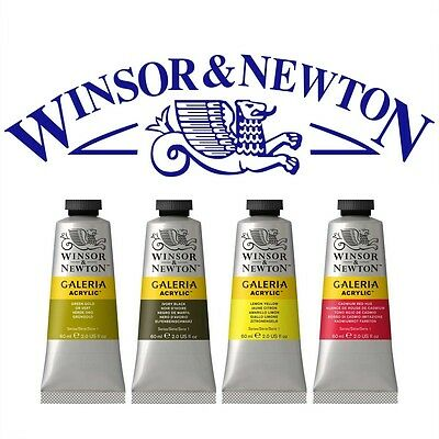 Windsor & Newton 60ml Acrylic Tube 30 colours to choose from A-P