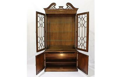 High-End & Exceptionally Detailed Chinese Chippendale Mahogany Cabinet by Davis