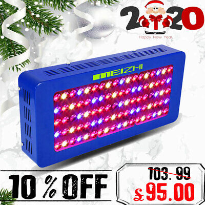 MEIZHI 300W LED Grow Light Panel Ful Spectrum Indoor Hydroponic Veg Bloom Garden