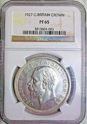 1927 Great Britain George V Silver Crown Ngc Pf-65 Gem High Grade L@@k