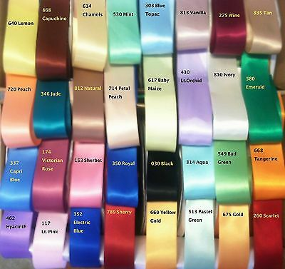 1.5 Double Face Satin Ribbon- 49 Colors- 1 Yards