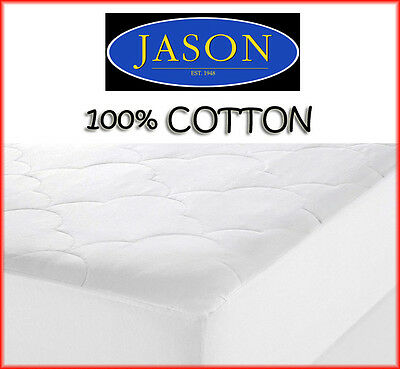 NEW Jason 100% Australian Cotton Cover and Fill 200GSM Mattress Protector Fitted
