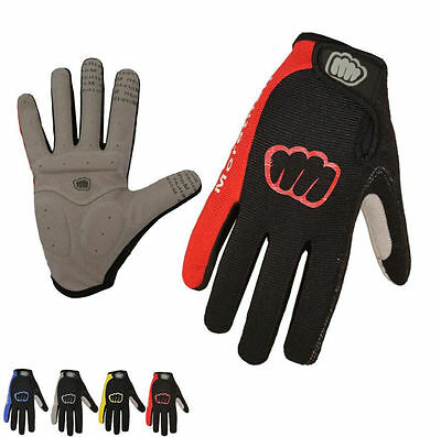 Road Street Sports Bike Bicycle Cycling Rider Cool Full Finger Antiskid Gloves