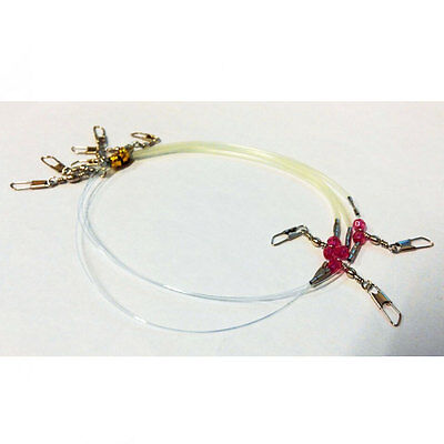 New 2pack Quick Drop Shot Rig Line Snap Set Down Rigs Fishing Tackle Squid Jig