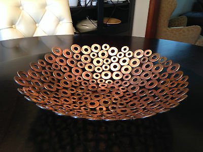 Abstract metal art bowl home decor Modern by Holly Lentz
