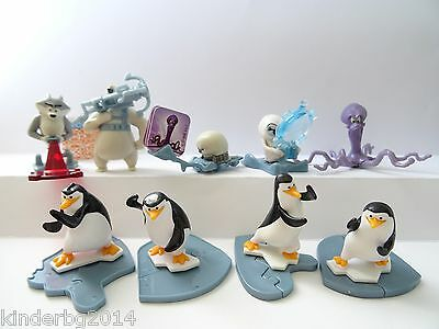 Complete collectible 9 figures set PENGUINS OF MADAGASCAR  Kinder Surprise 2015