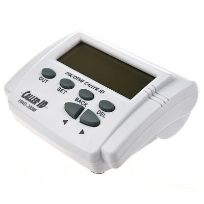 White handset display DTMF FSK Caller ID Box with Call History WS
