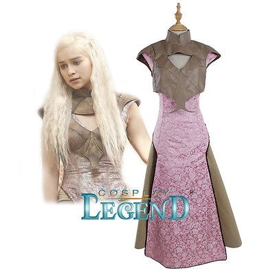 Daenerys Targaryen Dress Game of Thrones Season 5 Women's Halloween Cosplay