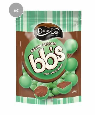 901235 4 X DARRELL LEA AUSTRALIAN BB's MILK CHOCOLATE MINT BALLS 200g BAG
