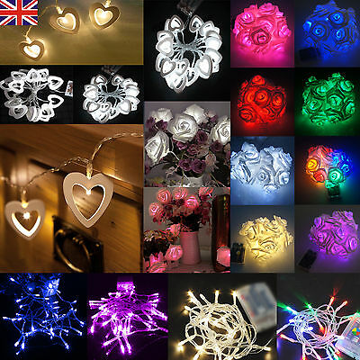 Battery Operated Xmas Christmas Party String Fairy Lights 10/20/30/40/50/80 LED