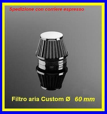 Filtro Power Filters chrome Streetfigther aria moto custom bobber ø60mm. 29-2160