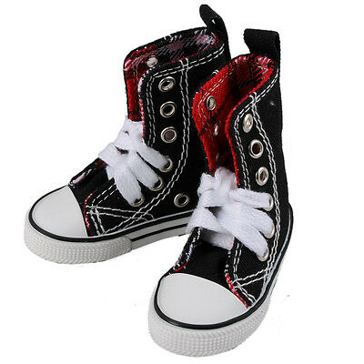 [wamami] 1/3 Black&Red High Aboral Shoes/Sneakers Boy For SD AOD BJD Dollfie