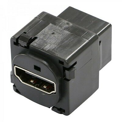 Black - HDMI 1.4 Jack / Mech / Insert - suits Clipsal Style Wall Plate
