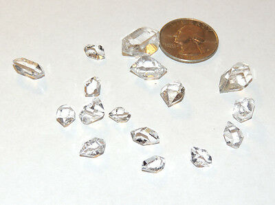 Herkimer Diamonds (10g) C+ grade 8-20mm from Middleville, NY 16 pieces (10872)