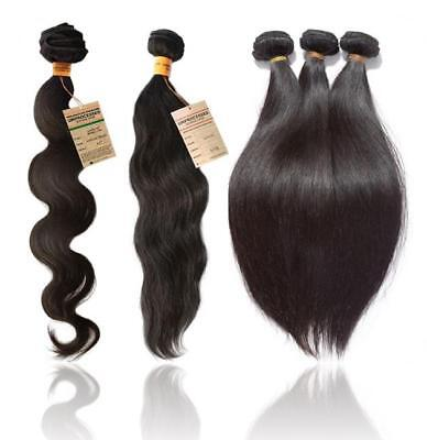 7A  Grade Quality 100 % Real BRAZILIAN Virgin Remy Human Hair Extension