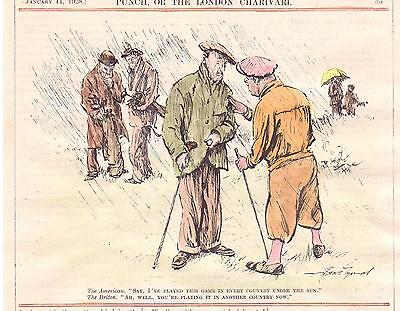 Antique Golf Engraving . 1928