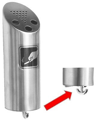 AS005S Ozwashroom Stainless Steel Keyless Outdoor Ashtray, Wall mounted high gra